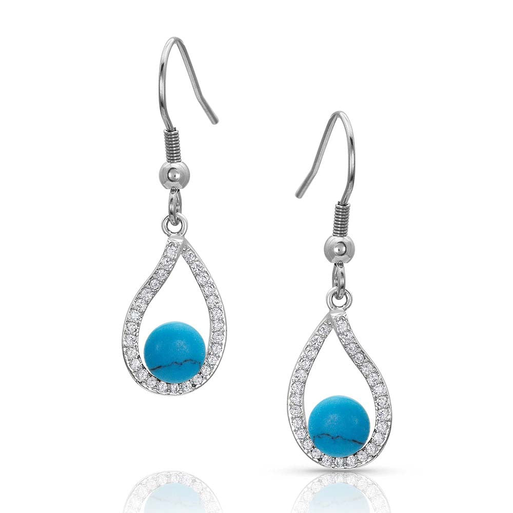 A Twist Holds It All Turquoise Earrings