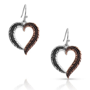 Hearts Aflutter Feather Earrings