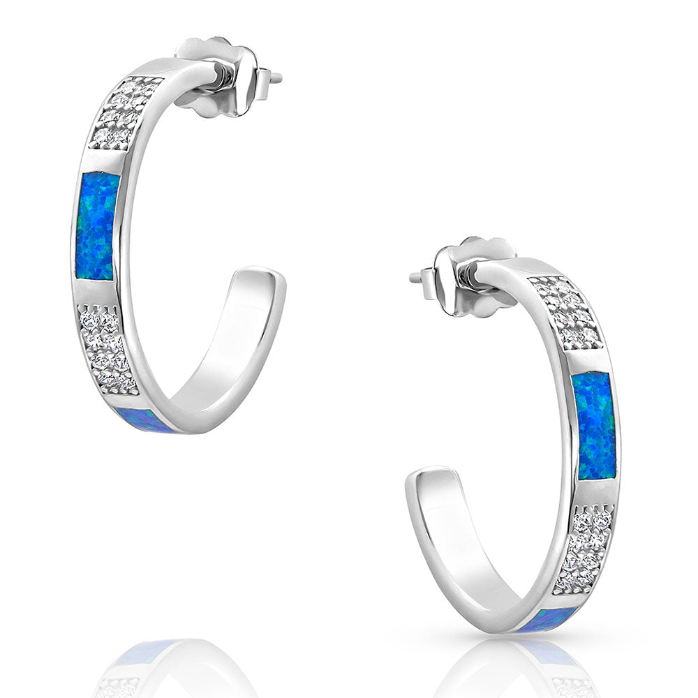 Step Change Opal Hoop Earrings