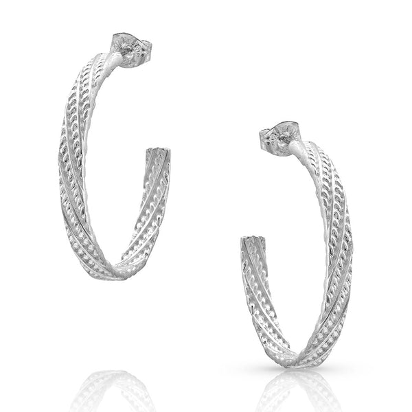 Rippled Rope Hoop Earrings