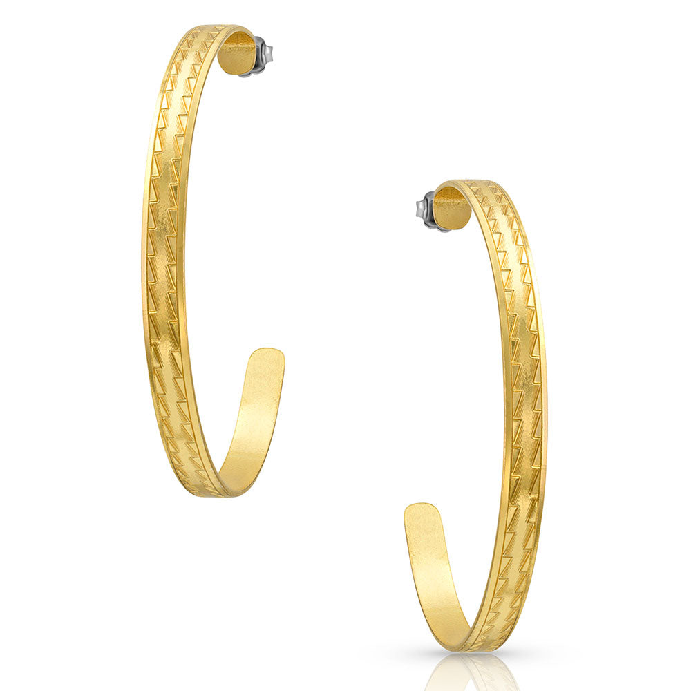 Inside Track Gold Hoop Earrings