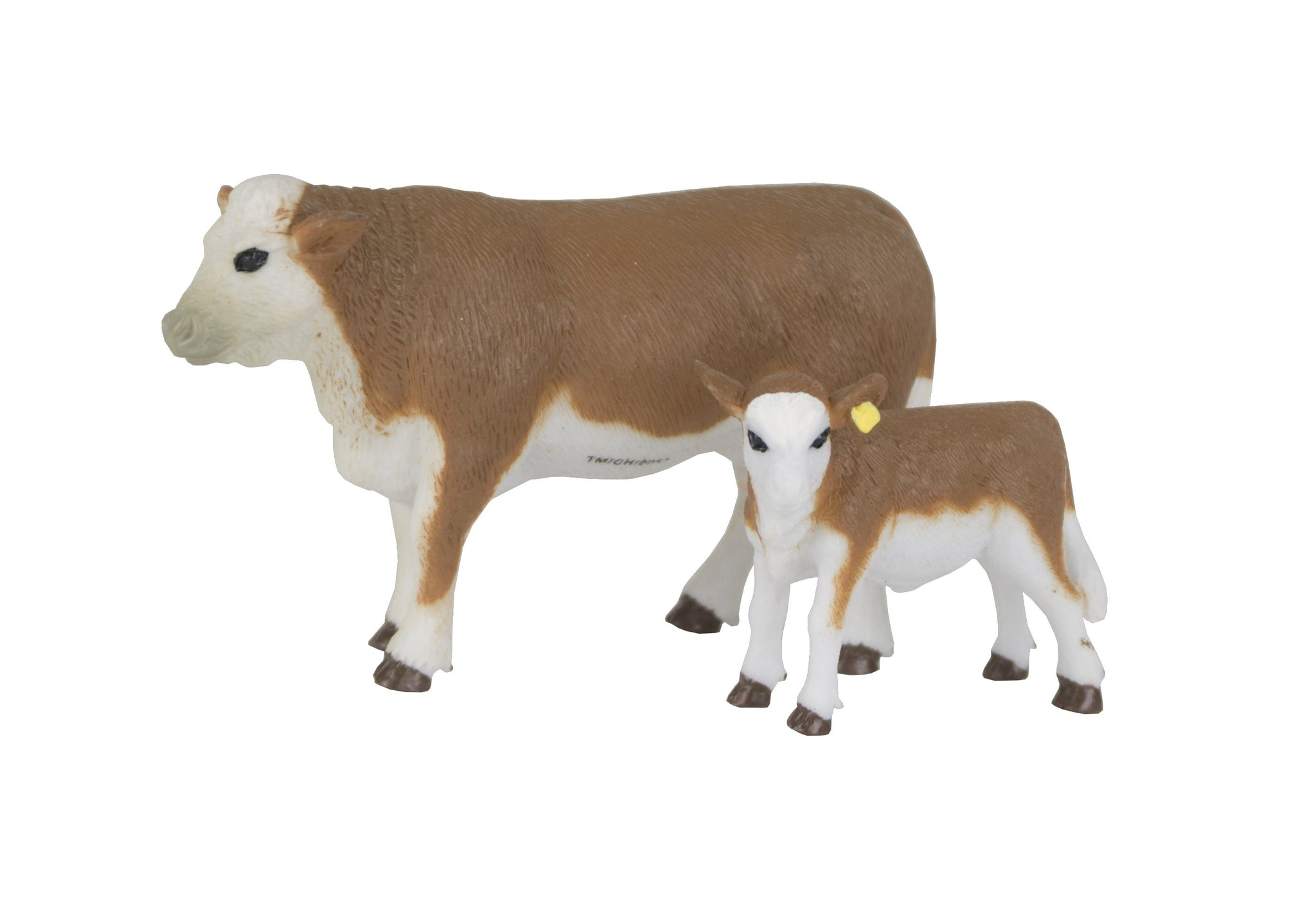 Hereford Cow and Calf Toy Set