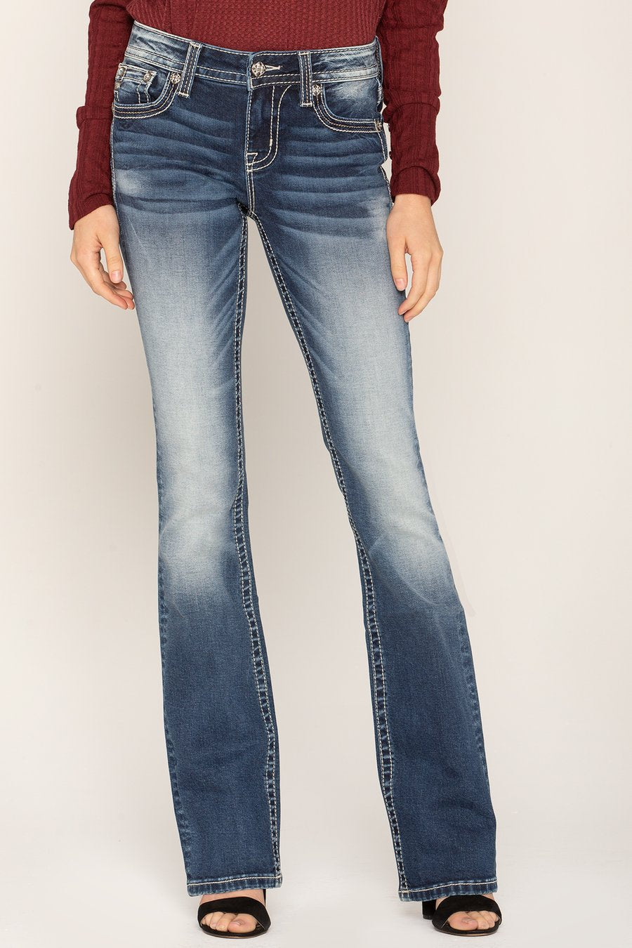 Miss Me Cowgirl Flare Bootcut Jean