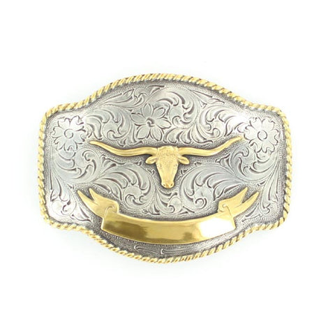 Nocona Men's Longhorn Engravable Buckle