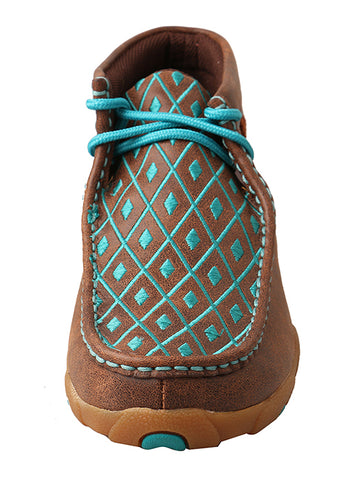 Women's Driving Moccasin Brown/Turquoise