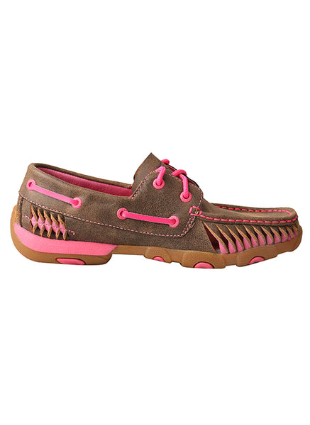 Women's Driving Moccasin Shoe Bomber/Pink