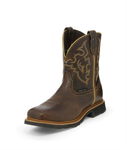 Justin Jalena Maple Tan Waterproof Comp Toe Workboot