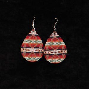 Teardrop Aztec Pattern Earrings