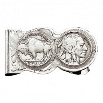 Buffalo Indian Nickle Scalloped Money Clip