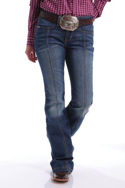 Cinch Women's Slim Trouser Lynden Medium Stonewash