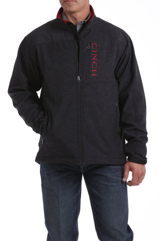 Concealed Carry Bonded Jacket - Charcoal/Brick