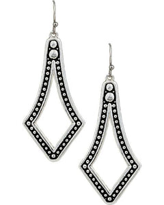 Montana Silversmith Beaded Diamond Drop Earring