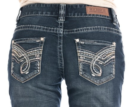 Rock and Roll Cowgirl Boyfriend Relaxed Fit Straight Leg Jeans