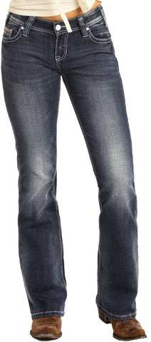 Rock and Roll Cowgirl Slim Low Rise Bootcut Riding Jeans