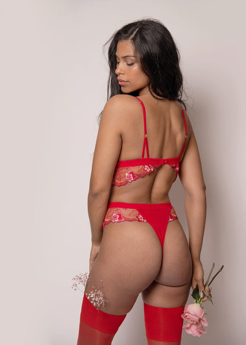 Full Bloom High Waist Thong