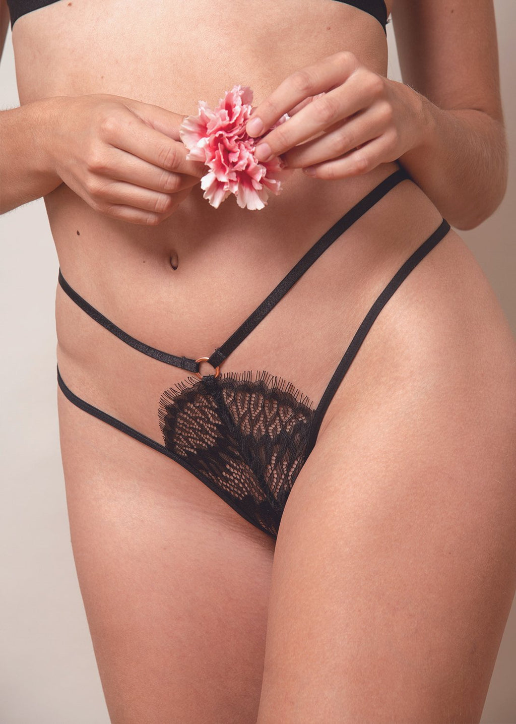Kissed By Fire Strappy Thong
