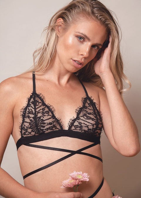 Lace Me Up Criss Cross Bra