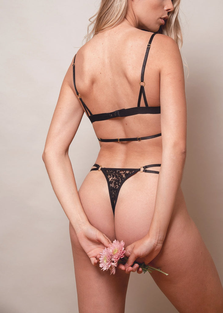 Lace Me Up Classic Thong