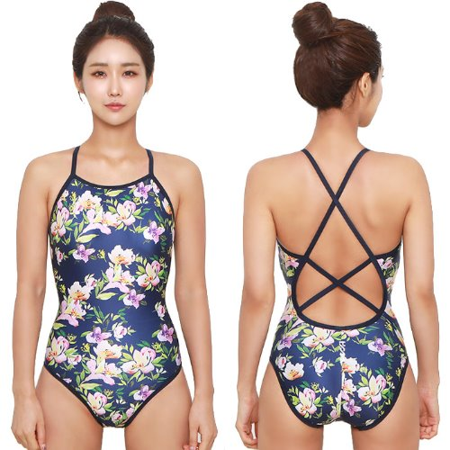 Flower Double Xback Swimsuit