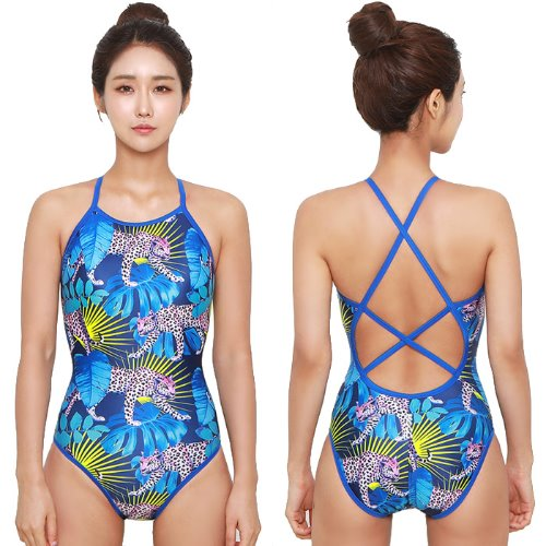 Leopard Double Xback Swimsuit