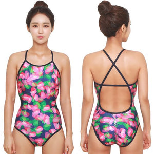 Paint Crossback Swimsuit