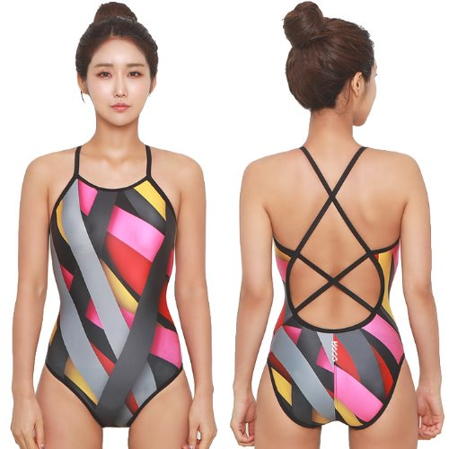 Ribbon Double Xback Swimsuit