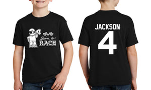 Personalised Kid's Born to Race T-shirt