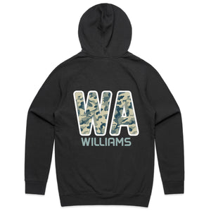 Personalised Netball Hoodie - Camo Green