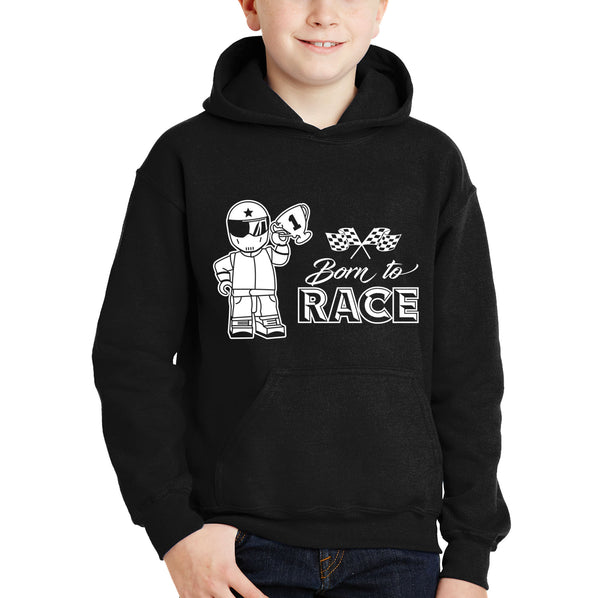 Personalised Kid's Born to Race Hoodie