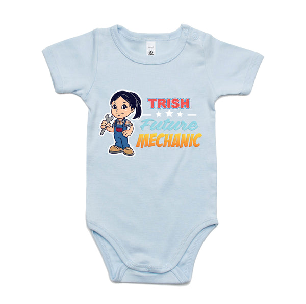 Personalised Baby Onesies - Future Mechanic