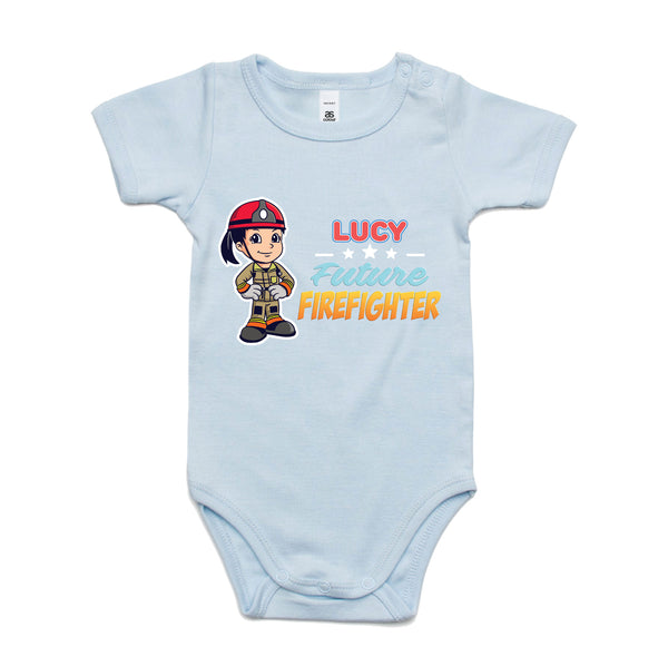 Personalised Baby Onesies - Future Firefighter