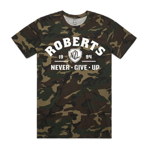 Personalised Camo T-shirt - Never Give up