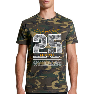 Personalised Camo T-shirt - Push Your Limit