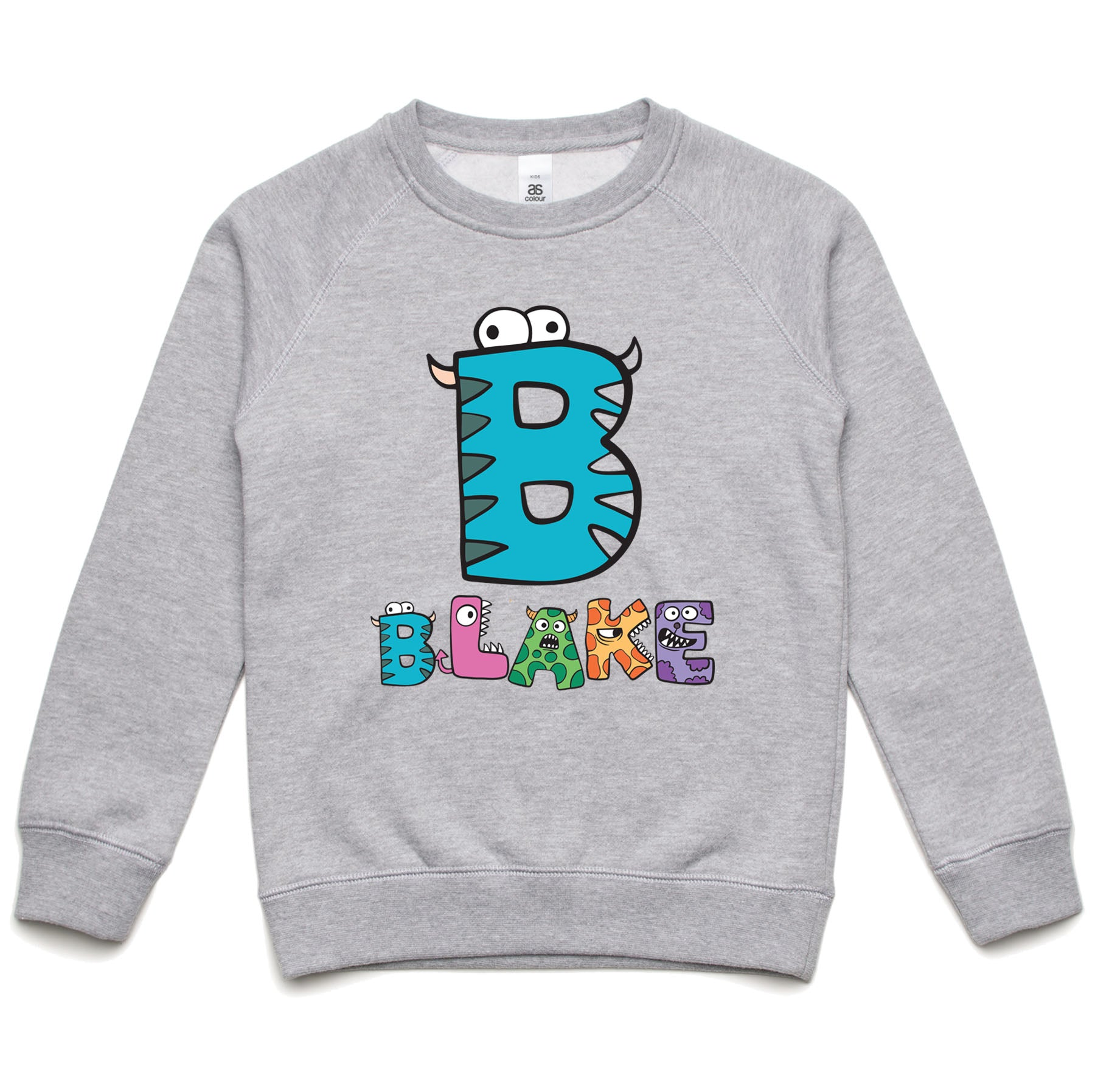 Personalised Kids Monster Sweatshirt