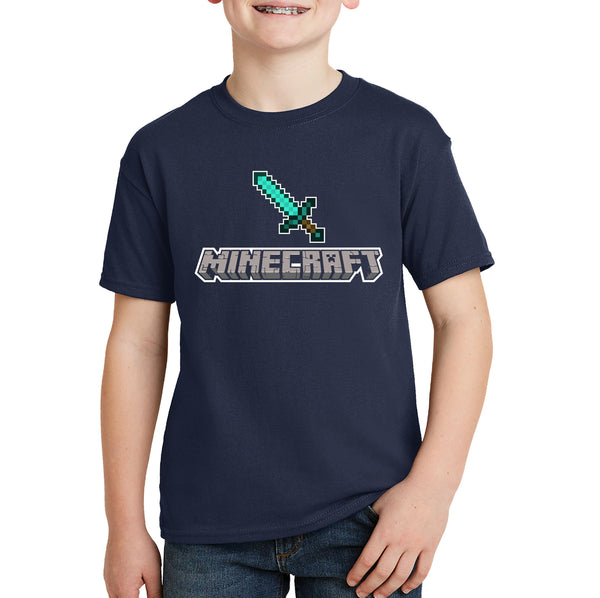 Minecraft Diamond Sword Kids T-shirt