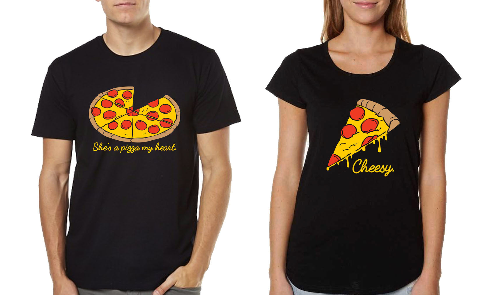 Couple T-shirts - She's a Pizza of my Heart