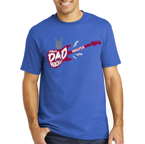 Personalised Dad Rocks T-shirt