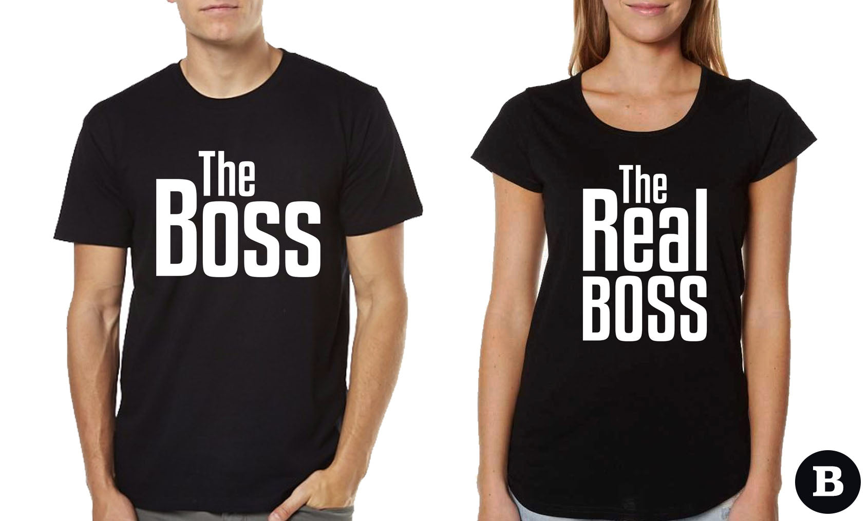 Couple T-shirts - The Boss, The Real Boss