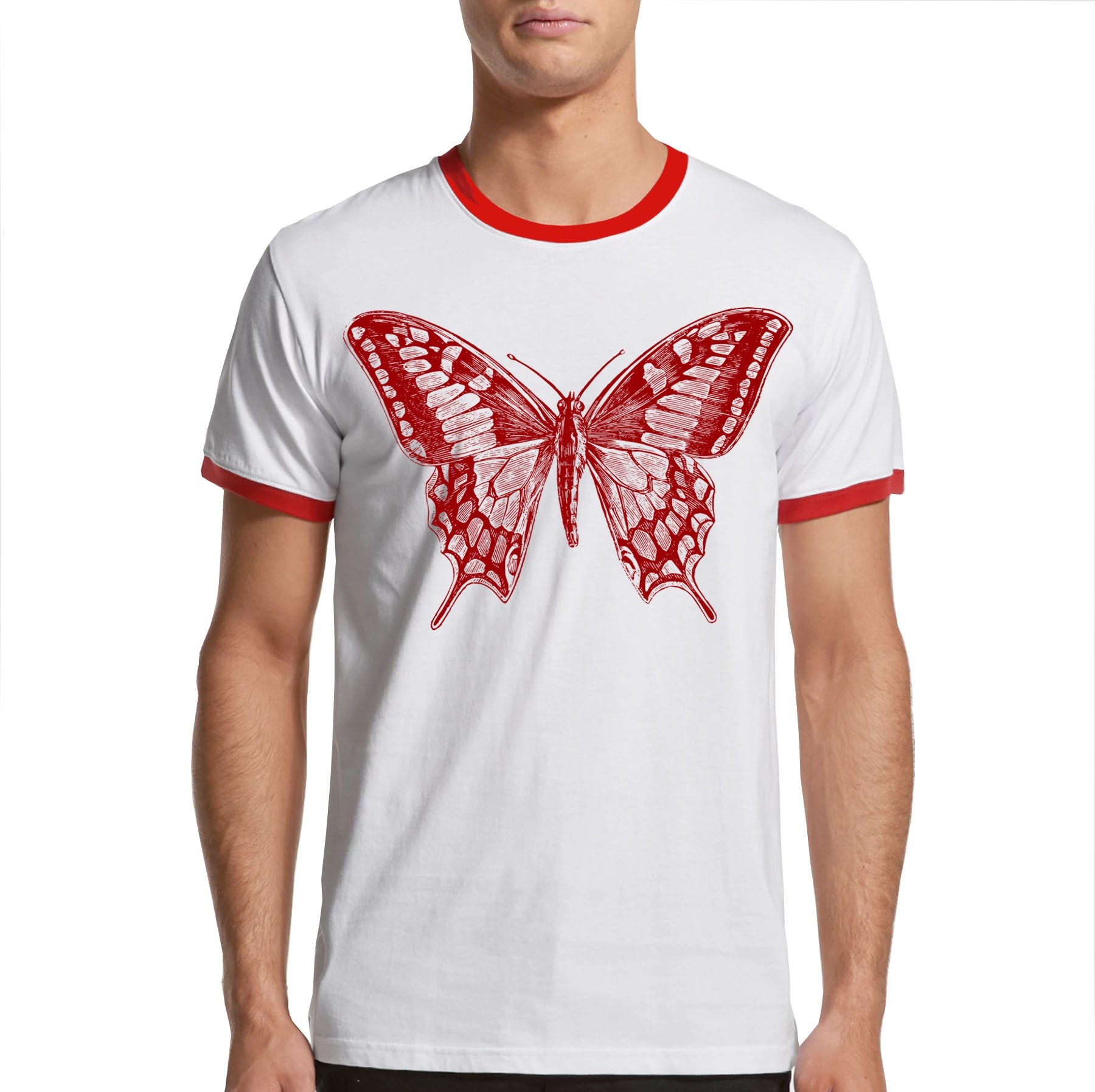 Vintage Butterfly Ringer T-shirt