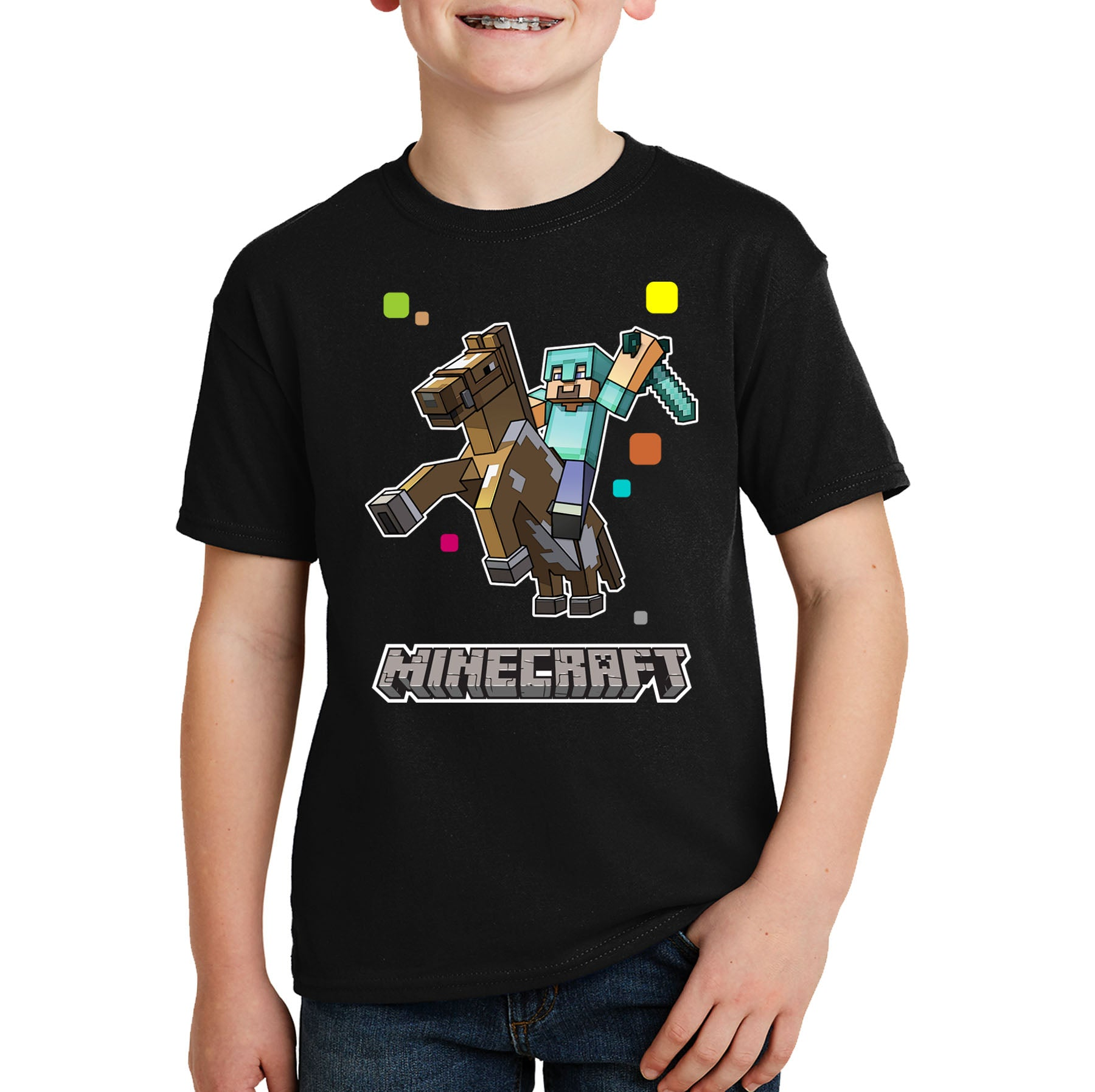 Minecraft Horse Kids T-shirt
