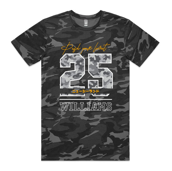 Personalised Staple Camo T-shirt - Push Your Limit
