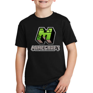 Minecraft M Logo Kids T-shirt