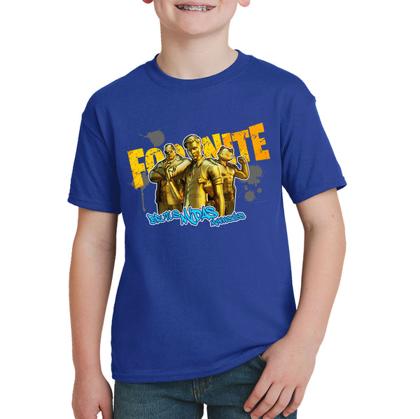 Fortnite Gold T-shirt - Brutus, Midas, Meowscles