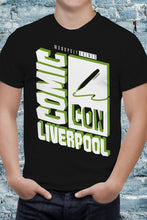 Load image into Gallery viewer, Comic Con Liverpool Logo T-Shirt With Back Print - Unisex