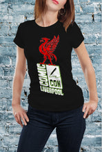 Load image into Gallery viewer, Comic Con Liverpool Liver Bird Logo T-Shirt With Back Print - Ladies