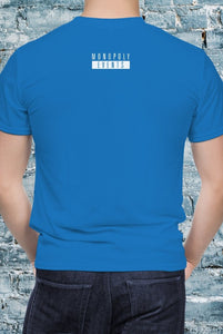 Blue Monopoly Events Logo Back Unisex