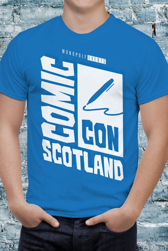 Comic Con Scotland Logo T-Shirt With Back Print - Mens