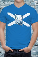 Load image into Gallery viewer, Blue Comic Con Scotland Flag Unisex Tee