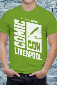 Comic Con Liverpool Logo T-Shirt With Back Print - Mens