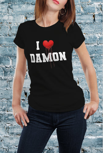 Comic Con Liverpool The Vampire Diaries I Heart Damon T-Shirt - Ladies